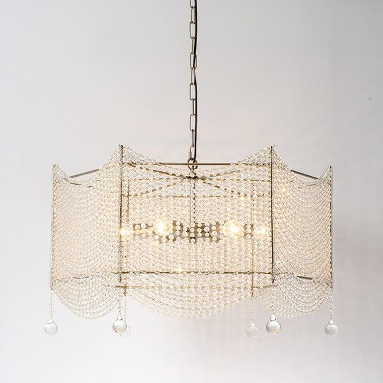 Amerikanischen Land Pendelleuchte Wohnzimmer Kristall Lampe Retro Silber Kreative Restaurant Bar Einfache Anhnger Lampen Ya815