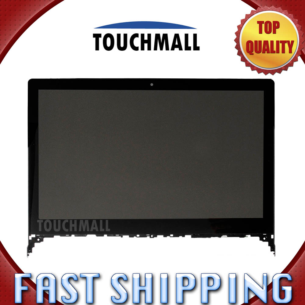 For New LCD Display Touch Screen Digitizer Glass with Frame Assembly Replacement Lenovo Flex 2-15 Flex 2 15 Black Free Shipping 30 pcs lot for sony xperia m5 new mobile phone lcd display with touch screen digitizer assembly black white free dhl shipping