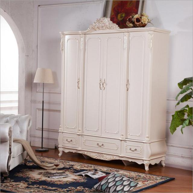 Four Door Wardrobe Modern European Whole Wardrobe French Bedroom Furniture  Wardrobe O1192