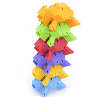 Rùa Đồ Chơi Xây Dựng Phát Triển Trí Tuệ Tự Lắp Ráp DIY Đầy Màu Sắc