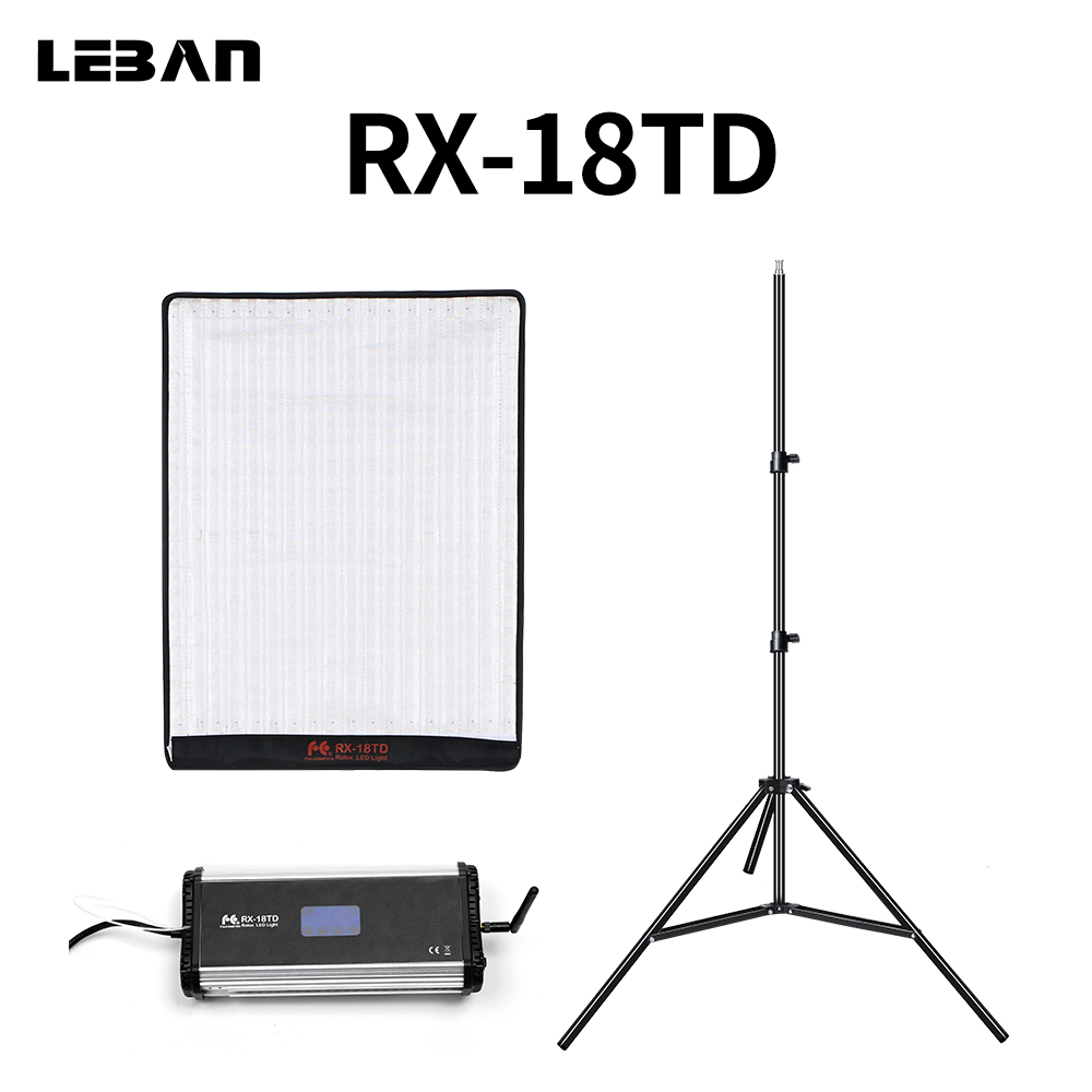 FalconEyes RX 18TD 100W LED Video Light 504pcs Flexible Rollable Cloth Lamp with LCD Touch Screen