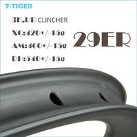 7 TIGER Bike Carbon 29er Tubular Rims For MTB Bike Cycling And Racing MTB 29 Wheel