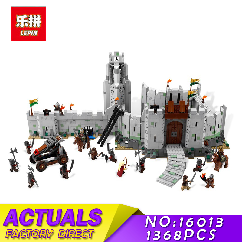 Lord of the Rings Series LEPIN 16013 1368pcs Battle Of Helm' Deep Model Building Blocks Bricks Mini Toys for Children Figures building blocks horse lord of the rings the hobbit super heroes star wars set model bricks kids diy toys hobbies figures