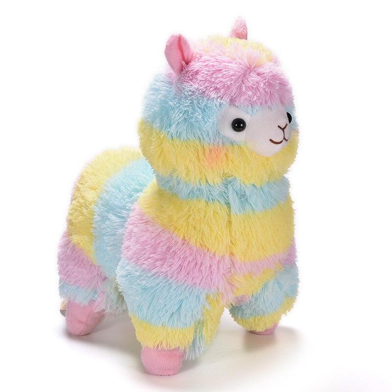 50cm Kawaii Rainbow Alpaca Plush Doll Toys Japanese Soft Plush Alpacasso Baby Plush Animals Gifts For Childrens
