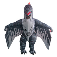 Raptor Dinosaur Adult Cosplay Costumes T REX Inflated Garment Ride on Toys Halloween Carnival Party Fancy Clothes For Women Men
