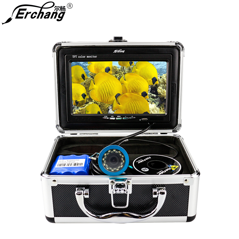 Erchang Fish Finder Underwater Camera 7 1000TVL HD Waterproof Fishing Camera with Dual mode Led Light