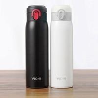 Durável xiaomi viomi aço inoxidável 460 ml inteligente vácuo garrafa térmica de água s garrafa térmica copos garrafa de água portátil s Controle remoto inteligente     -