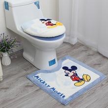Купить с кэшбэком Free shipping Cartoon bathroom thickening plush toilet three piece set toilet seat cover potty pad toilet set cover mat