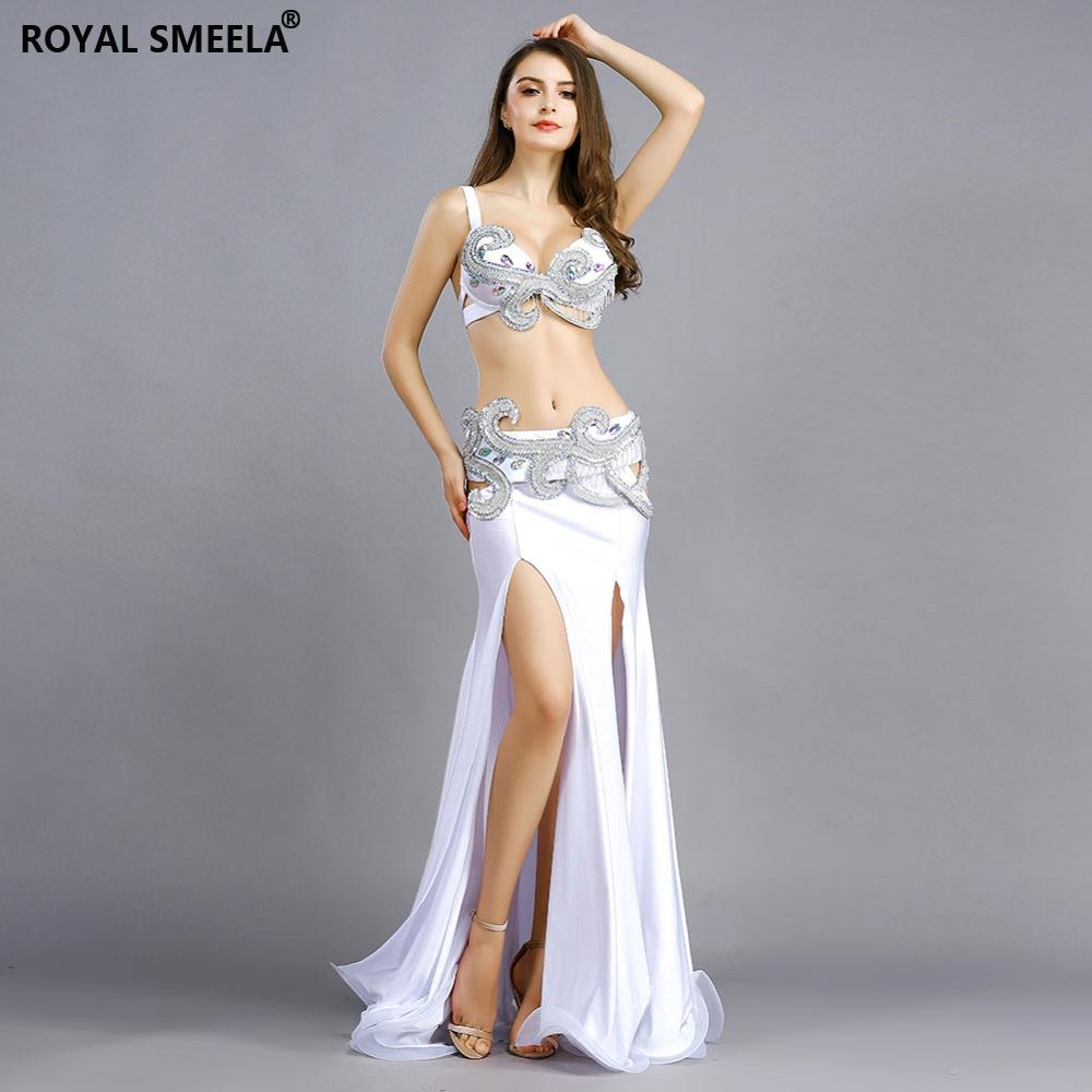 Free Shipping Professional Belly Dance Costume For Indian Performance Outfits Bollywood Dancer Belly Dance Costume Sequined 8832
