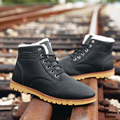 XGVOKH nueva Marca 2016 Hombres de La Manera Zapatos de Invierno Lace up CASUAL Ankle Boots Añadir lana Caliente Botas Hombres Tobillo k401