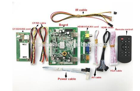 MV59AAD HDMI+VGA+AV Media player board support HD(1080P) Picture and Video decoding Media player board