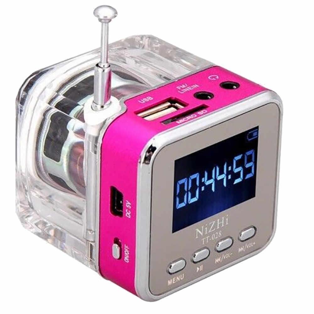 Музыка JH-MD08D ЖК-дисплей Дисплей мини Цифровые колонки Портативная колонка/TF-карта/разъем линейного входа MP3 телеприставка FM радио Прямая доставка