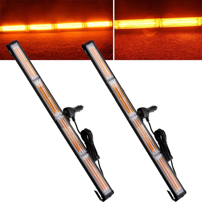 2 3 LED Car Truck 3 Flashing Models Emergency Strobe Warning Light Bar Beacon UK
