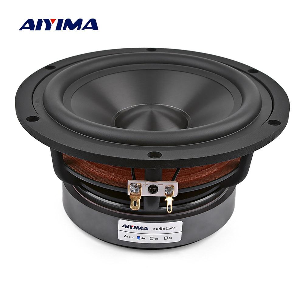 AIYIMA 6.5 pouces haut-parleur de graves médiums 60 W 4 8 ohms haut-parleur de graves Hifi haute puissance cadre en aluminium pour bibliothèque Home cinéma