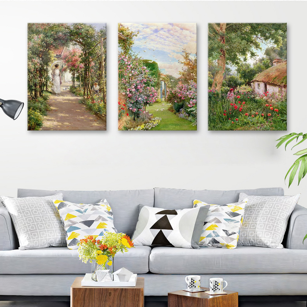 3 Pieces / Lots Diamond Embroidered Painting Full Square Diy Painted Oil Mosaic New Home Decora