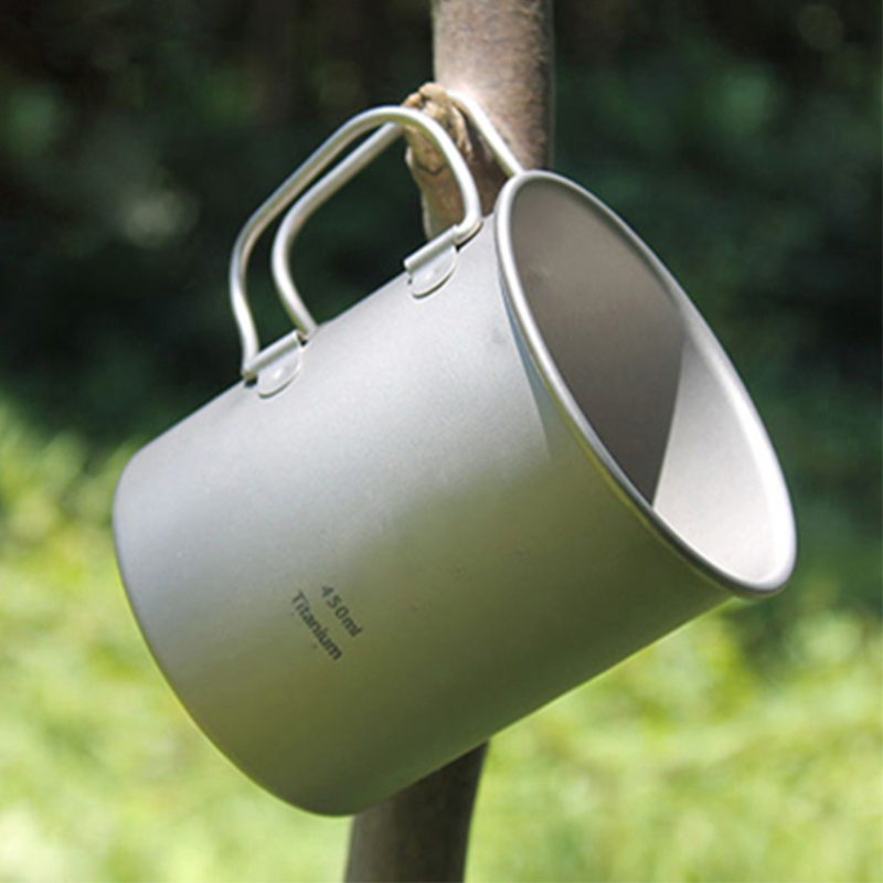 ФОТО Keith Hot Sale 450ml Titanium Mug Drinkware Outdoor Camping Cup Titanium Heatable Single Ultralight 62g KS810