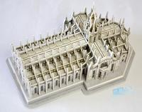 Candice guo 3D paper building model DIY toy birthday gift assemble game puzzle Italy Milan Cathedral Church of Duomo di Milano