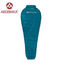 AEGISMAX Camping en plein air ultra-léger momie 95% 800FP sac de couchage en duvet d'oie printemps automne hiver tente sac de couchage léger
