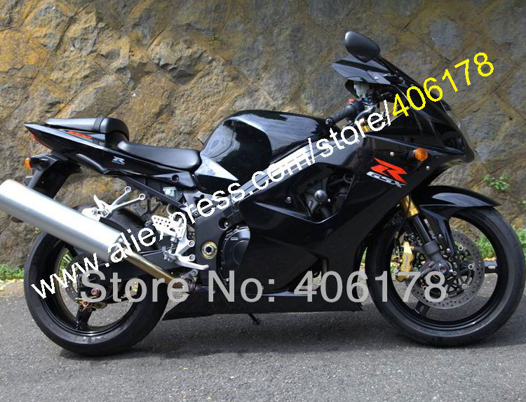 Hot Sales,All Black For SUZUKI GSXR1000 Fairing 03 04 K3 GSX R1000 2003 2004 GSXR 1000 K3 fairings for sales (Injection molding) hot sales sv650 03 04 05 06 07 08 09 10 11 12 13 fairings for suzuki sv650 2003 2013 sv650s black abs motorcycle fairing set