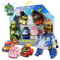 6 шт./компл. Супер Крылья самолет робот abs игрушки; фигурки героев милые Супер крыло трансформации мини игрушечный самолет для детей