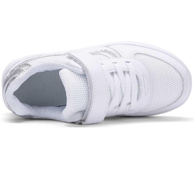 Dziewczyny wysokiej jakości oddychające moda dzieci mieszkania buty białe dziewczyny buty do chodzenia na zewnątrz dziewczyna obuwie buty w stylu casual dziecko różowy