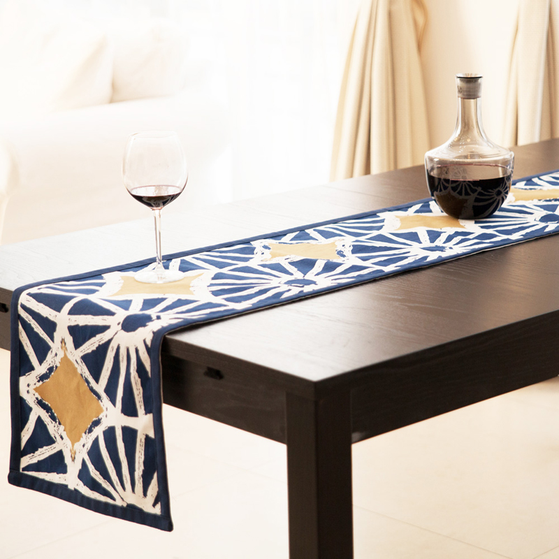 100% Cotton Table Runner Original Design Wheel Printed Table Runners Lemon Slices Tablecloth