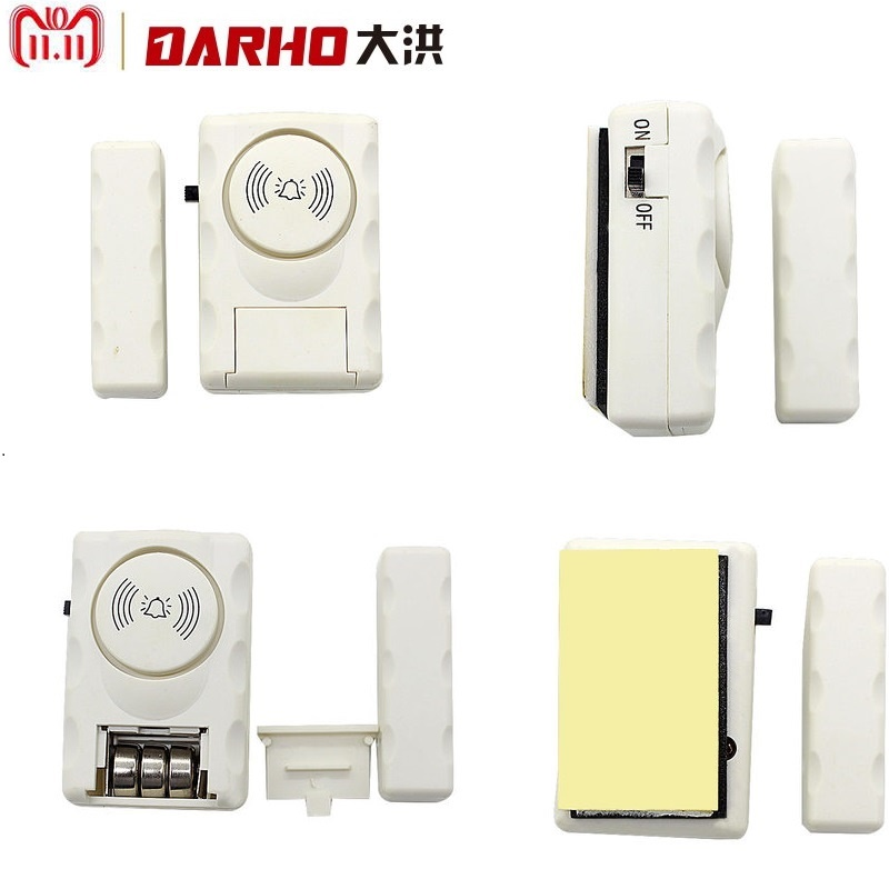 darho large volume home store security door window siren alarm warning system wireless door detector burglar alarm for25pcs Darho Wireless Home Security Door Window Alarm Warning System Magnetic Door Sensor Independent Alarm Wireless Open Door Detector