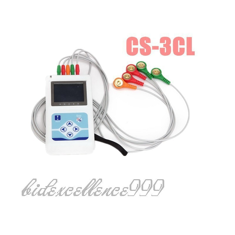 3 Channel ECG Holter System Software 24 Hours Recorder Analyzer btl cardiopoint holter h100