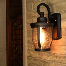 HAWBERRY LED outdoor waterproof creative courtyard bar wall lamp retro American style indoor stairwell aisle gate corridor light все цены