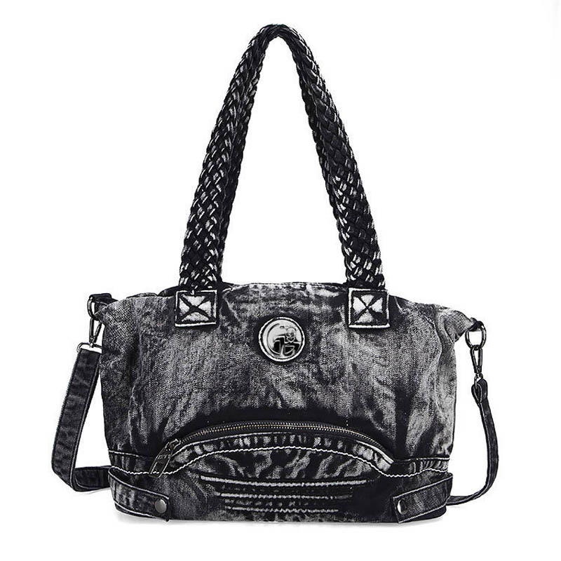 women casual denim shoulder bag large hobos tote bag women woven belt handbags mliizykki lace flower handbags women shoulder bag spring casual hobos tote