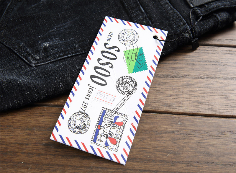 Newsosoo 2018 Casual Men Embroidery Straight Jeans Brand Flower Pattern Personality Male Fashion Denim Jeans Pants Black (6)