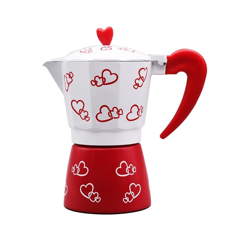 240ml Aluminum Espresso coffee maker serving 6 people coffee pot 23x13x16cm