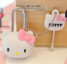 12.7*8.2cm Hello Kitty notebook drawer lock small cute cartoon Bag Mini Dress padlock