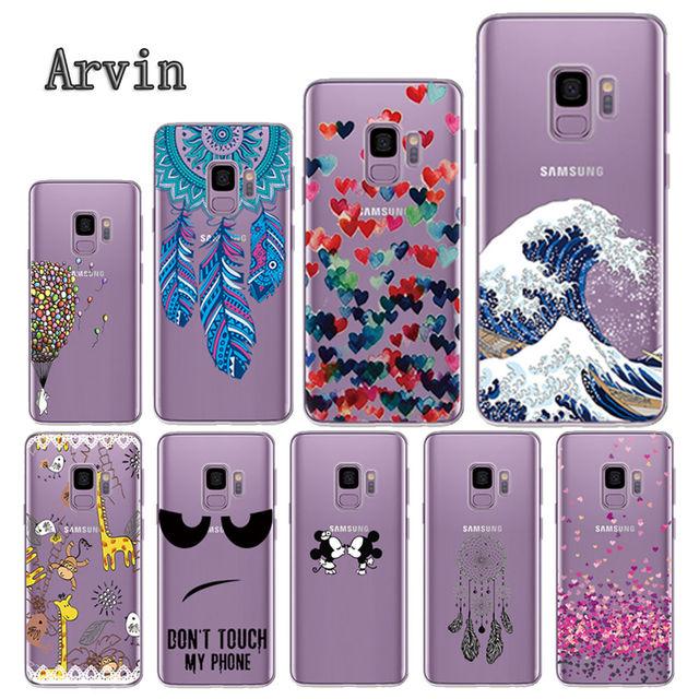 Arvin funda de silicona para Samsung Galax s5 S6 S7 S8 claro funda protectora para el Samsung S6 borde S8 más S9 funda de teléfono TPU suave Plus