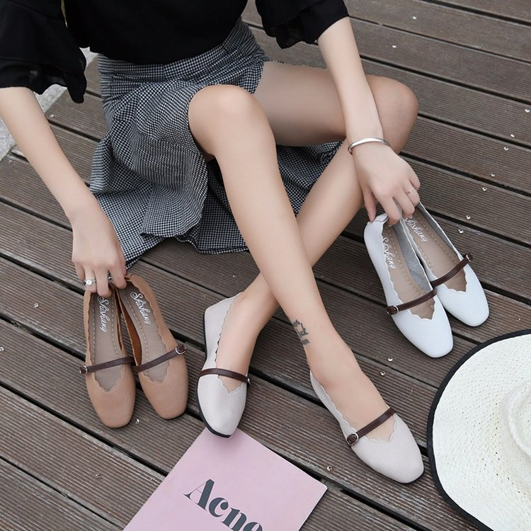 Brand Ksyoocur 2018 New Ladies Flat Shoes Casual Women Shoes Comfortable Pointed Toe Flat Shoes Spring/autumn Women Shoes 18-013