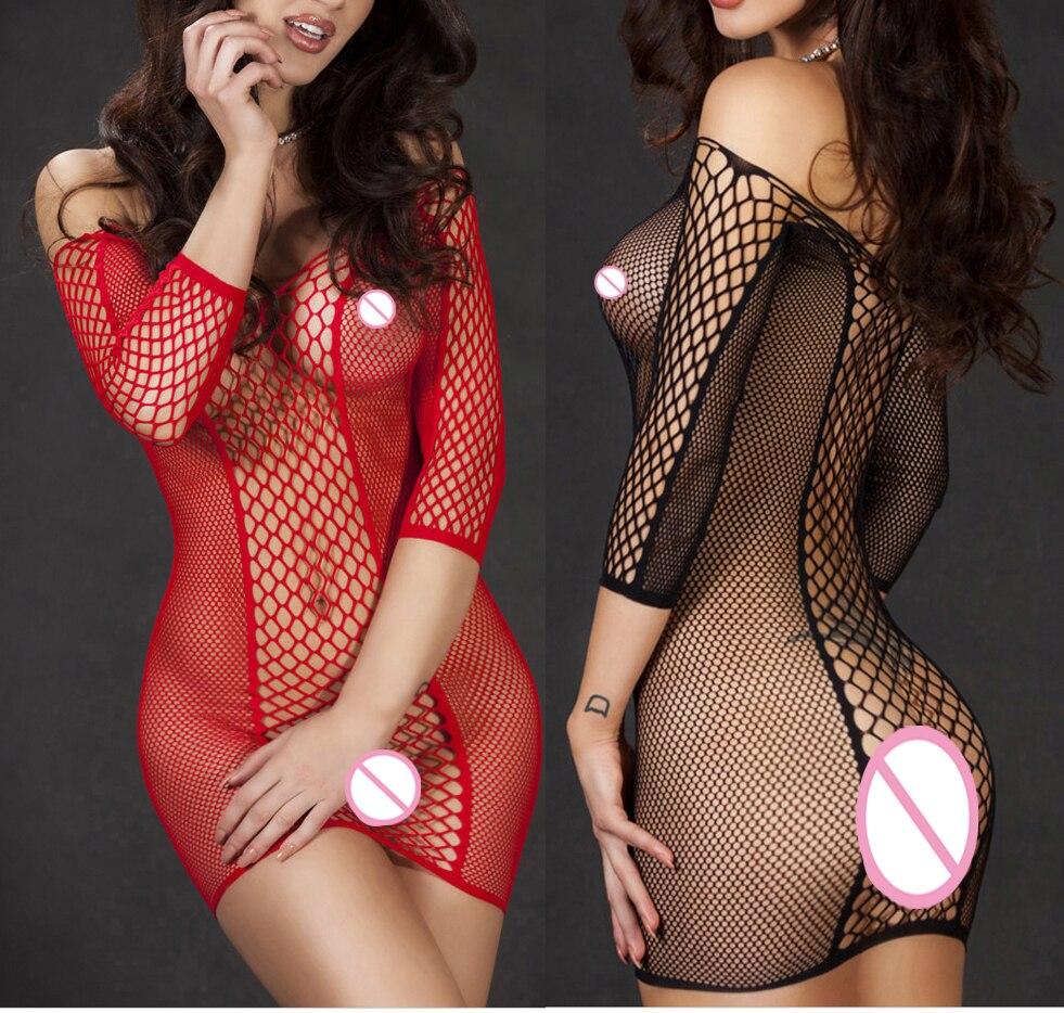 2017 Sexy Lingerie Babydoll Baby Doll Dress Perforate Underwear Sleepwear Teddies Sleepwear Tights Best Nightgown Toy Red Black