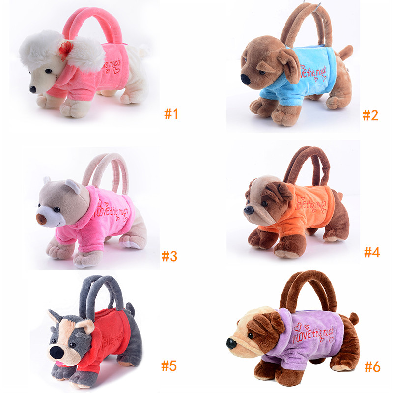 Gloveleya Plush Cartoon Dogs for Kids Coin Holder 3D Poodle Toys Schnauzer Toys for Children Girls Best New Year Gifts 20*13 cm sleeping beauty like princess pet bed for miniature poodle mini schnauzer pekingese etc