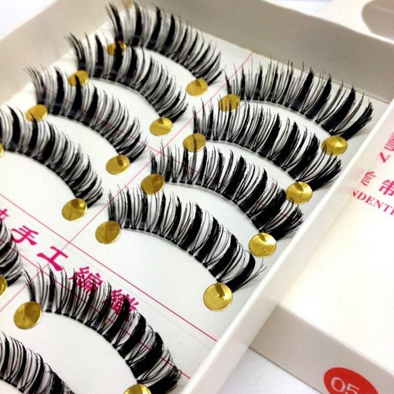 10pairs Handmade False Eye Lashes Black Thick Eyelashes Extension For Female Natural Long Eyelashes Makeup Tools False Lashes
