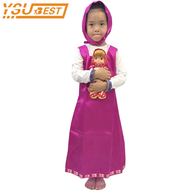 Cosplay Party Decoration Roupa Da Masha and Bear Clothing Costume ...