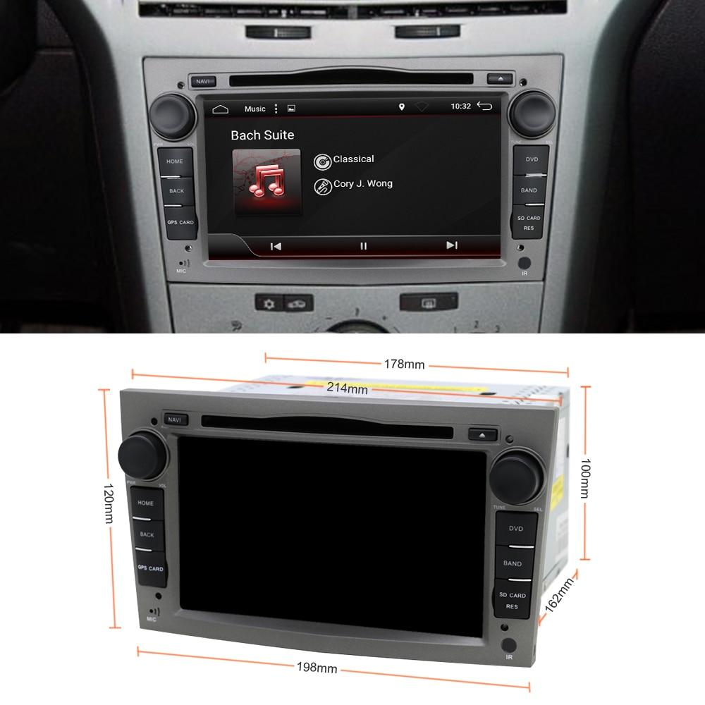 Lecteur Radio DVD de voiture Eunavi 2 Din Octa Core 7 ''Android 8.1 pour Opel Astra Vectra Antara Zafira Corsa GPS Navi Wifi autoradio - 2