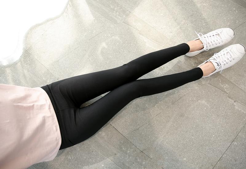 BIVIGAOS Femmes Mode En Cuir Patch Tissé Occasionnel Pantalon Mince Mince  Noir Leggings Cheville Pantalon Élastique Pantalon Femmes Pantalon SlimUSD  ... 5fc0942db45