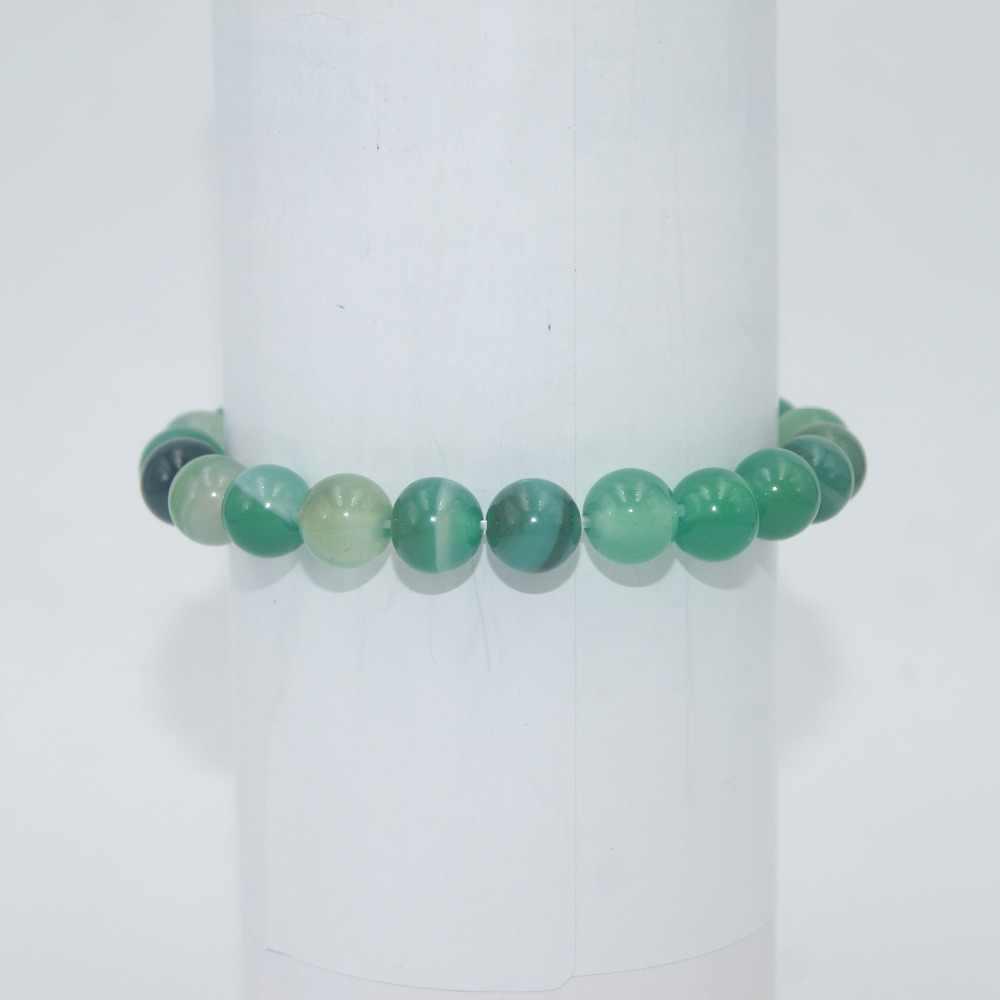 Transfer szczęścia 6 8 10 MM koraliki z kamienia naturalnego ametysty agaty tygrysie oko lazuryt bransoletki dla kobiet mężczyzn bransoletka joga Femme