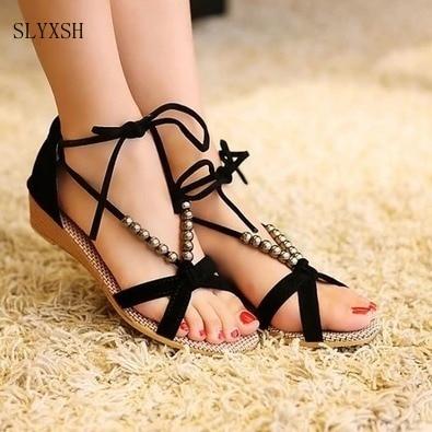 SLYXSH 2018 Hot new women sandals wedges summer casual single shoes woman sandal fashion soft slippers 35-40 эпосы легенды и сказания садко
