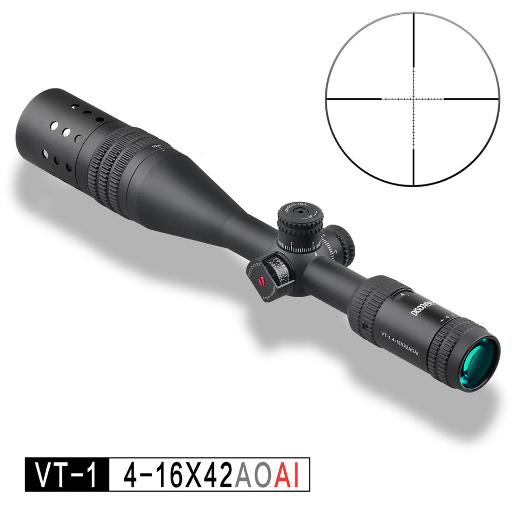 цена на DISCOVERY VT-1 4-16X42AOAI SFTactical First Focal Plane Riflescope For Outdoor Hunting Scope rifle scope optical sight