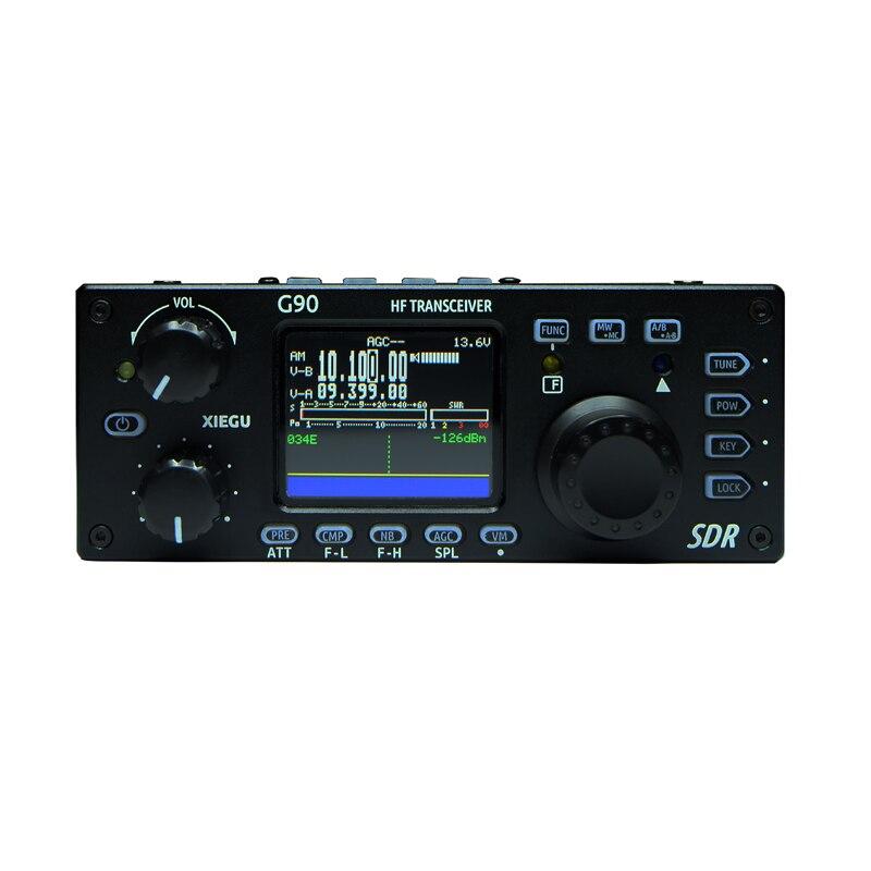XieguG90 Radio à ondes courtes extérieure SDR émetteur-récepteur Portable HF 20 w/CW/AM/FM 0.5-30MHz SDR Structure Tuner d'antenne automatique intégré