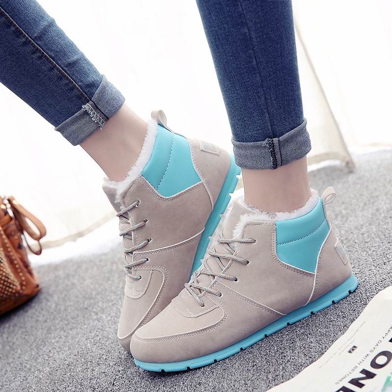 hot sale 2017 new autumn winter sport shoes women flat pu leather running shoes female W ...