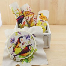 Hand dyed 4 Assorted Designs Cotton Linen Printed Quilt Fabric For DIY Sewing Patchwork Home Textile