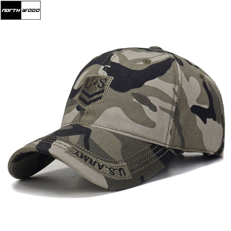 [NORTHWOOD] 2018 Mens Us Army   Baseball     Cap   Men Camo Casquette Homme Women Camouflage   Cap   Snapback Tactical   Cap   Trucker
