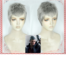 IHYAMS Devil May Cry 5 Nero Halloween Cosplay Costume Game Hunter Short Silver Gray