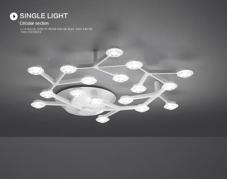 Led plafond verlichting lichtkoepel pruimenbloesem lamp metalen